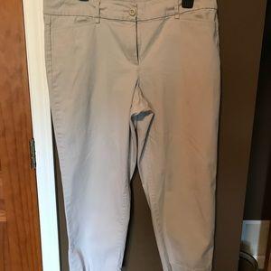 Ann Taylor Loft tan crop pants size 12